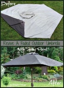 How to Paint a Faded Outdoor Umbrella