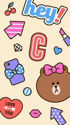 BROWN PIC is where you can find all the character GIFs, pics and free wallpapers of LINE friends. Come and meet Brown, Cony, Choco, Sally and other friends! Peach Wallpaper, Brown Wallpaper, Photo Wallpaper, Wallpaper Backgrounds, Friends Wallpaper, Disney Wallpaper, Marie Cat, Cute Love Cartoons, Cute Kawaii Animals
