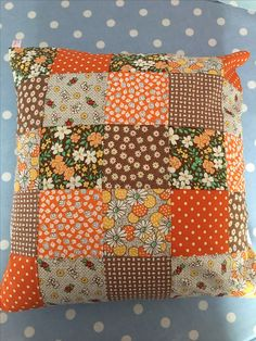 Lovely patchwork cushion cover £8.50 in my shop today