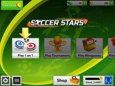 Main menu ui game mobile