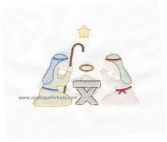 Shadow Work & Embroidery :: Holiday & Seasons :: Shadow Nativity