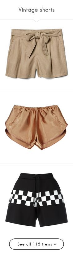 """Vintage shorts"" by distopia ❤ liked on Polyvore featuring shorts, bottoms, high waisted shorts, petite shorts, high rise shorts, high-rise shorts, tencel shorts, pants, short and stretch waist shorts"