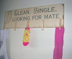 grappig voor in de wasruimte