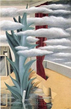 After the Water, The Clouds (1926) Rene Magritte.  Art Experience NYC  www.artexperiencenyc.com/social_login/?utm_source=pinterest_medium=pins_content=pinterest_pins_campaign=pinterest_initial