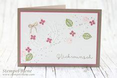 Stempel-Biene: Stampin' Up! Blumenkarte mit Thinlits Wunderbar verwickelt