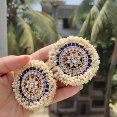 This meenakari + kundan earing for just Rs +shipping. Indian Jewelry Earrings, Indian Jewelry Sets, Jewelry Design Earrings, Silver Jewellery Indian, Silver Jewelry, India Jewelry, Silver Rings, Hoop Earrings, Antique Jewellery Designs