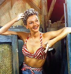 Mary Martin in the original Broadway production of South Pacific, 1949.