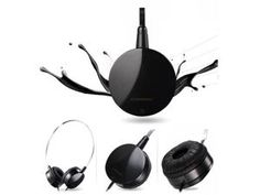CD-360V headphone portable headset stereo with microphone   Black