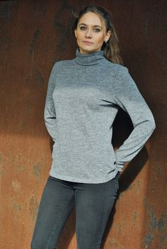 Roll Neck Grey Jumper / Szary Sweter z Golfem