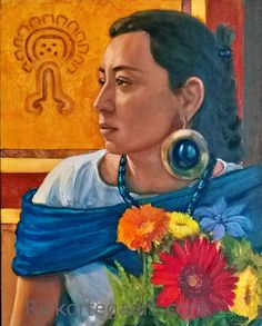 """""""When virtue and modesty enlighten her charms, the lustre of a beautiful woman is brighter than the stars of heaven, and the influence of her power it is in vain to resist.""""   ~  Akhenaton  Artist: Rick Ortega  Title:  'Alma de Xochitl'   <3 lis"""