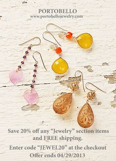 "Enjoy 20% Off ""Jewelry"" Section and FREE shipping"