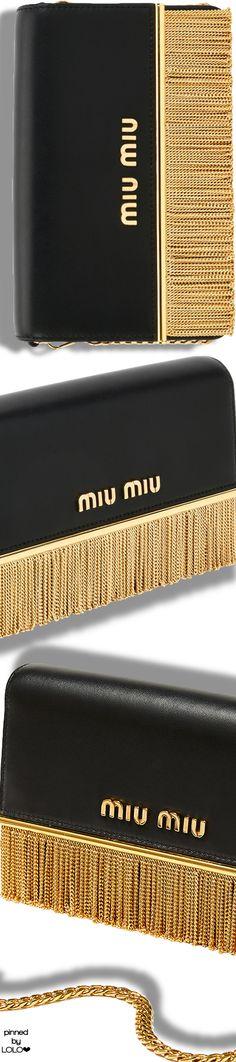 Miu Miu Calf Leather Fringe Shoulder Bag #miumiu