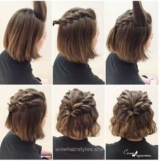 updo hairstyles & tutorials for girls with short hair — perfect for prom, w…  http://www.wowhairstyles.site/2017/07/23/updo-hairstyles-tutorials-for-girls-with-short-hair-perfect-for-prom-w/