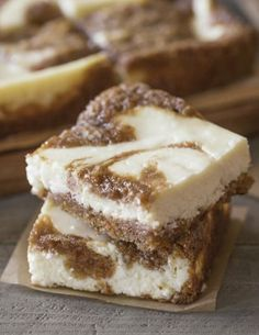 Carrot Cake Swirled Cream Cheese Bars