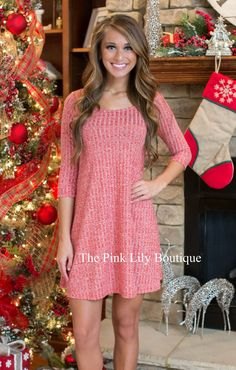 A Night Like This Red Dress - The Pink Lily Boutique