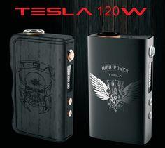 Genuine Tesla 120W Box Mod - 120Watt Wood and Metal #Tesla