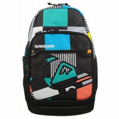 59e151d4794b Quiksilver SCHOOLIE BIG CHECK  backpack Zipper