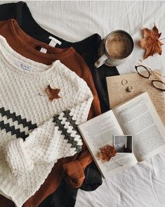 ♚ Bella Montreal ♚ Insta: bella.montreal || Pinterest & WeHeartIt: bella4549 || autumn, fall, sweaters, white, black, orange, layout, aesthetic, books, reading, writer, coffee