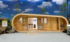 The ecoPerch, a 400 square foot tiny house; sustainable, modern, luxury. Made by a UK company, it can be delivered, assembled and put into place in about 5 days.