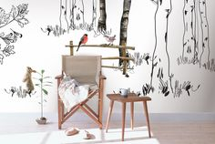 Behang 'Bunny' kinderkamer behang | Stories on the wall |  We maken het behang op maat voor je, precies zoals jij het hebben wilt.