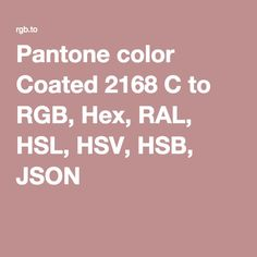 pantone color coated 2168 c to rgb hex ral hsl hsv