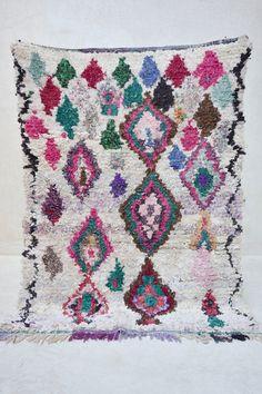 "BAY OF BENGAL 6'5"" x 4'8"" Boucherouite Rug. Tapis Moroccan. Teppich Berber. Mid…"