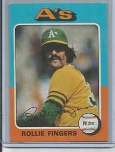 1975 topps Rollie Fingers autographed card Limited to serial # 4461314 Dodgers Baseball, Sports Baseball, Baseball Players, Baseball Cards, Baseball Movies, Star Cards, Sports Figures, Oakland Athletics, Mlb