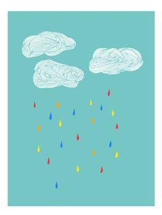 RaincloudsPrint von sparklehen auf Etsy, $12.00