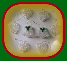 Vintage Spun Glass Bells and Hearts by OurGrandmothersAttic, $14.00