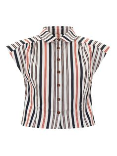 Portia Nautical Stripe Shirt 0