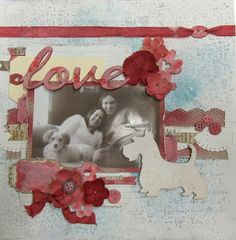 How to Customize Backgrounds and Embellishments Using Gesso, Mists, and Paste by Nicole Doiron