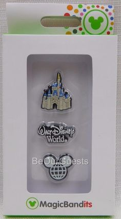 Disney Parks Magic Band Bandits Castle Disney World Wrist Charms Set of 3 New