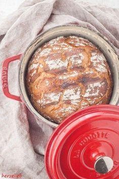 Landbrot Rezept backen Topf herzelieb foodblog