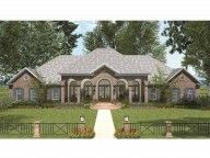 Eplans French Country House Plan - Four Bedroom French Country - 4816 Square Feet and 4 Bedrooms from Eplans - House Plan Code Colonial House Plans, French Country House Plans, European House Plans, Southern House Plans, Dream House Plans, House Floor Plans, Dream Houses, Office Floor Plan, Monster House Plans