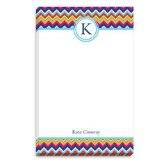 Bright Zig Zag Initial Notepads