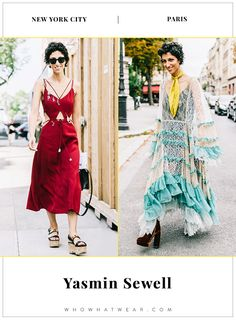 New York vs. Paris: How Style Stars Dress in Different Cities via @WhoWhatWear