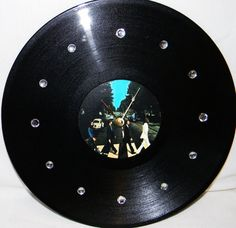 BEATLES ABBEY ROAD Inspired Vinyl Record Wall by PandorasCreations, $25.00