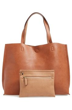 Free shipping and returns on Street Level Reversible Faux Leather Tote & Wristlet at Nordstrom.com. Supersoft faux leather flips inside-out for a reversible tote while a matching wristlet multiplies your styling options and keeps you organized on the go.