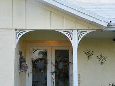 Porch brackets - Traditional - Entry - Other Metro - Durabrac Architectural Components Porch Brackets, Pvc Vinyl, Houzz, Embellishments, Miami, Garage Doors, Exterior, Traditional, Mirror