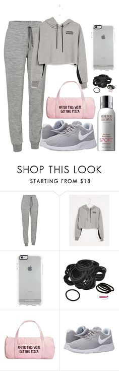 """""""sporty ish"""" by alda-naura ❤ liked on Polyvore featuring Icebreaker, Bershka, ban.do, NIKE, Molton Brown, GetTheLook, StreetStyle, casualoutfit, polyvorefashion and sportoutfit"""
