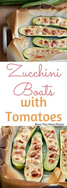 Zucchini Boats with Tomatoes and Fresh Mozzarella ~ This is a great side dish for just about anything grilled. Or as a main dish served with corn on the cob and watermelon. Dinner doesn't have to be fussy to be amazing! Vegetable Dishes, Vegetable Recipes, Chicken Recipes, Side Dish Recipes, Dinner Recipes, Dinner Ideas, Cooking Recipes, Healthy Recipes, Quick Recipes