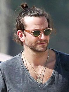 Bradley Cooper's Mansome Take on the Top Knot