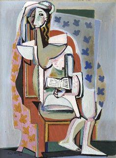 Emil Filla: Žena vkřesle sknihou / 1930