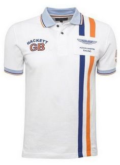 polo ralph lauren cheap Hackett London Aston Martin Racing DBR9 Polo Shirt White http:/