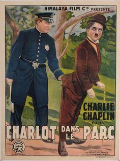 Original Charlie Chaplin Movie Poster 'Charlot Dans Le Parc (In the Park)' 1915