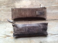 Leather pencil cases made by LABOUR OF ART