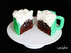 """Not only are these """"beer mug"""" cupcakes fun and easy to make, they're actually made with beer."""