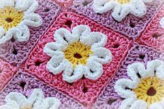 Crochet Pattern Crochet 3D Flower Baby Blanket