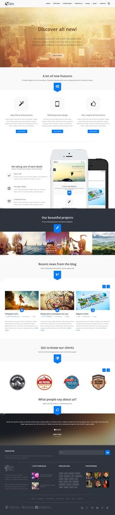 Premium fully responsive website templates with retina-ready created by some of the best designers from all over the web. All templates are using the Website Layout, Web Layout, Website Themes, Homepage Design, Web Design Trends, Responsive Web Design, Ui Web, Ibiza, Website Design Company
