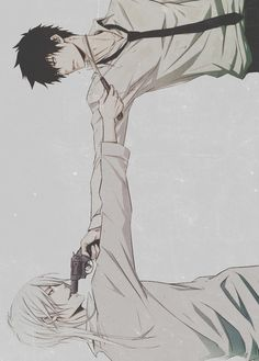 Makishima vs. Kogami  If they were real people, men would shrivel up and die from the build up of unfulfilled sexual desire. In other words, dayum.